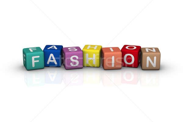 Mode ontwerp kleur cartoon Stockfoto © almagami