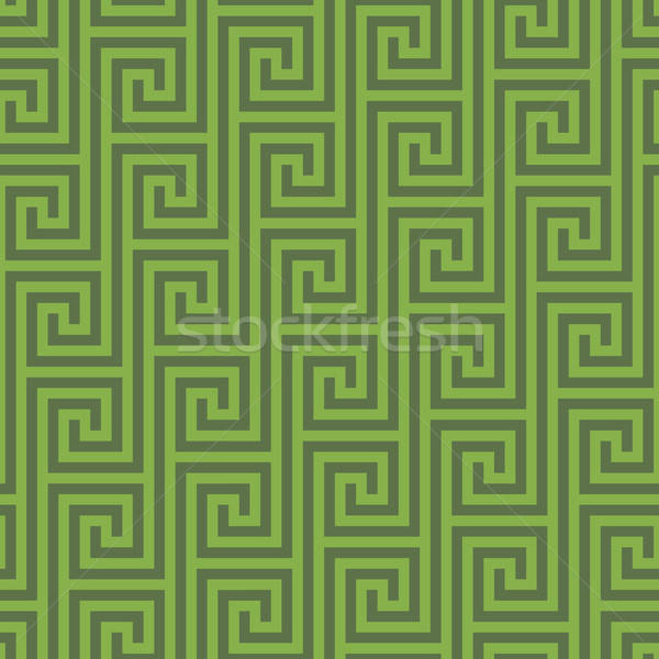 Greenery Classic meander seamless pattern. Stock photo © almagami