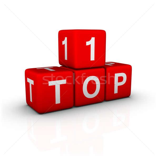Topo 10 música caixa cores cartas Foto stock © almagami