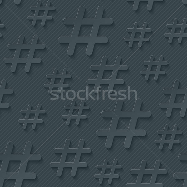 Hash tag seamless background Stock photo © almagami