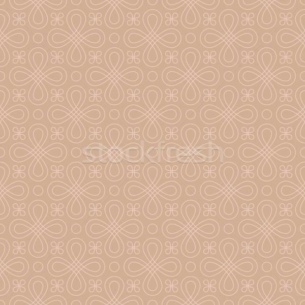Foto d'archivio: Neutro · senza · soluzione · di · continuità · lineare · fiorire · pattern · geometrica