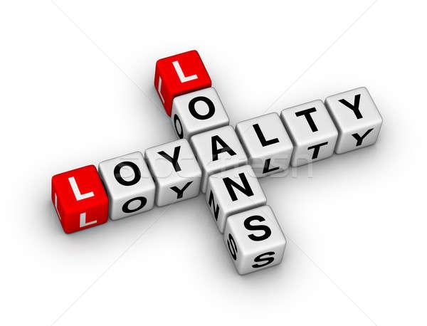 Zdjęcia stock: Lojalność · krzyżówka · puzzle · działalności · list · czerwony