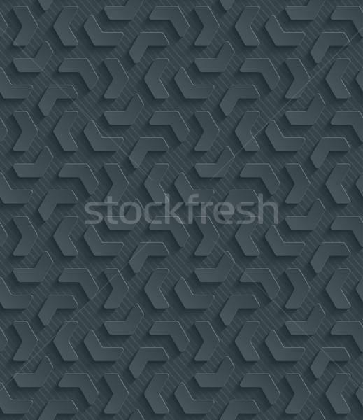 Sombre papier papier découpé effet résumé 3D Photo stock © almagami