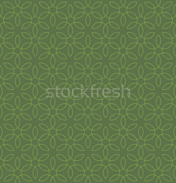 Neutral Seamless Linear Flourish Pattern. Stock photo © almagami