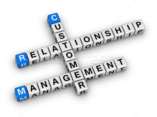 клиентов отношения управления crm кроссворд головоломки Сток-фото © almagami