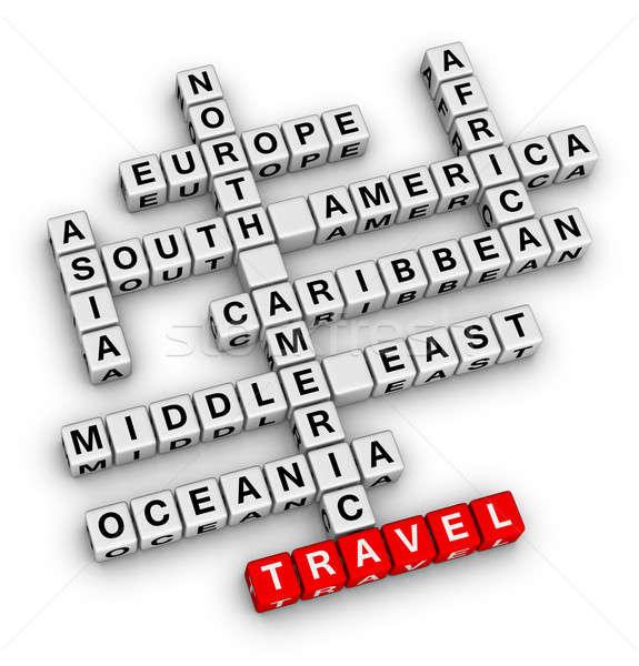 Podróży kierunku krzyżówka czerwony asia wakacje Zdjęcia stock © almagami
