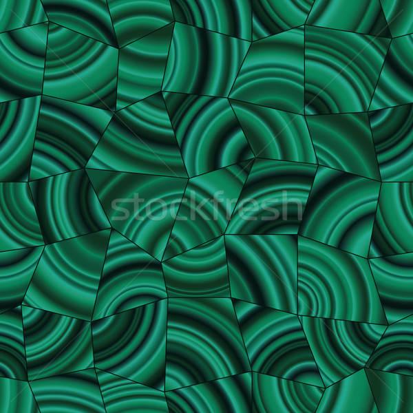 Escuro verde malaquita padrão mosaico abstrato Foto stock © almagami