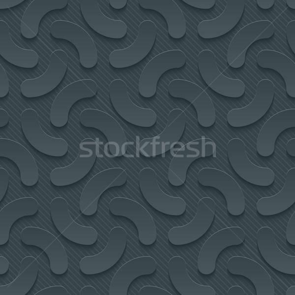 Ciemne papieru efekt streszczenie 3D Zdjęcia stock © almagami