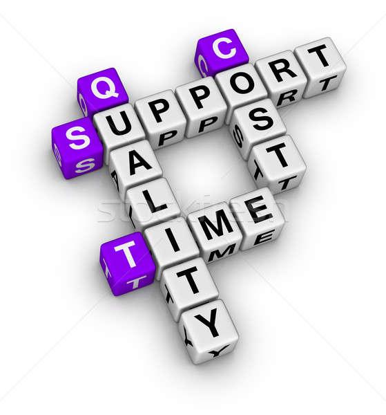 Business organisatie basis kruiswoordraadsel tijd brief Stockfoto © almagami