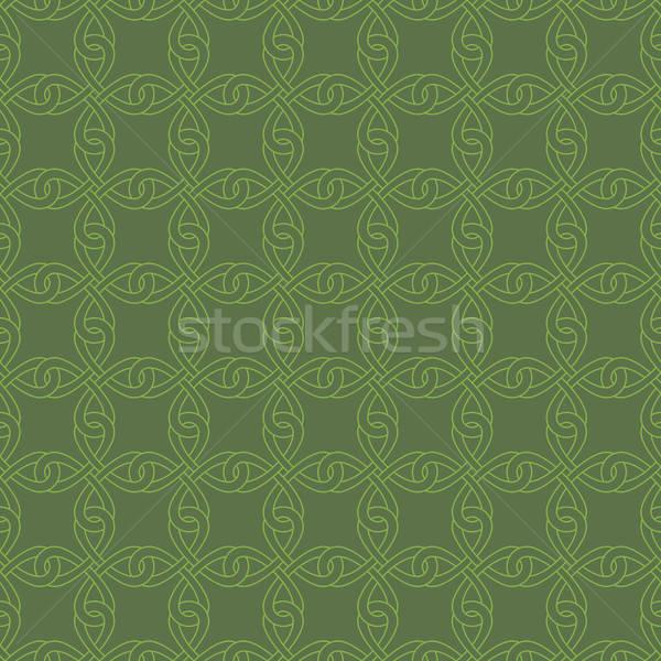 Neutral Seamless Celtic Knotwork Pattern. Stock photo © almagami