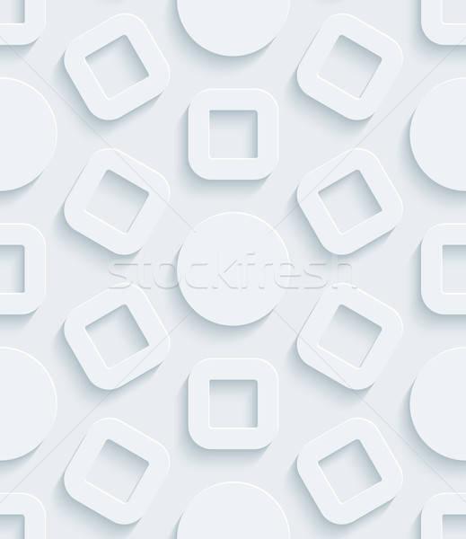 Beyaz kâğıt etki soyut 3D Stok fotoğraf © almagami