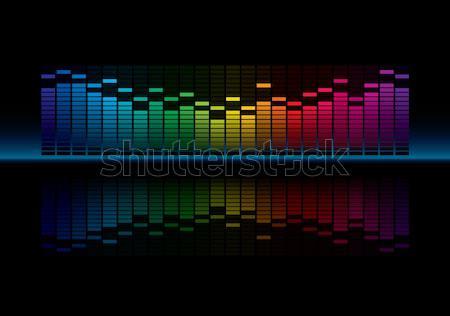 Ecualizador gráfico pantalla vector música Foto stock © almagami