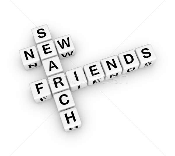 search new friend Stock photo © almagami