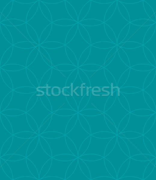 Neutral Seamless Linear Pattern. Geometric Circles Vector Backgr Stock photo © almagami