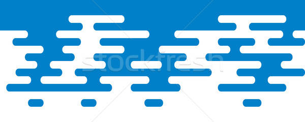 Ripple Irregular Rounded Lines Seamless Border. Stock photo © almagami