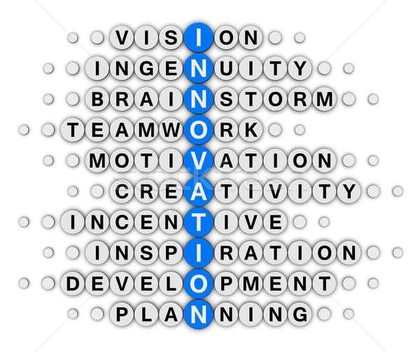 Foto d'archivio: Innovazione · cruciverba · puzzle · business · blu · nube