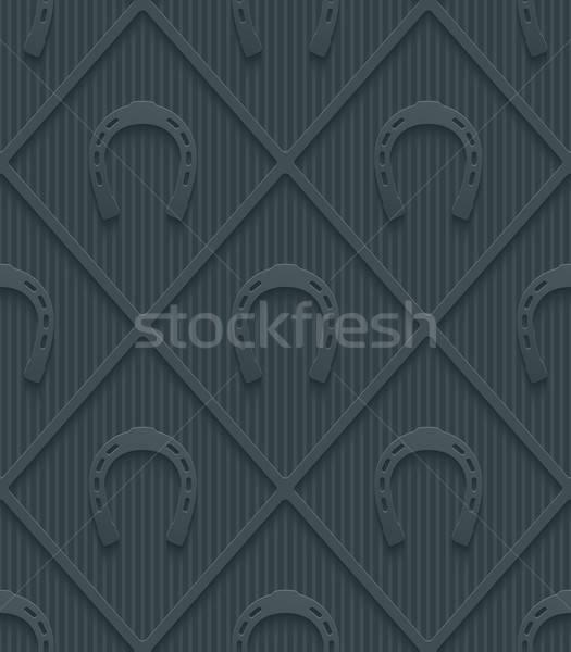 Dark gray horseshoes wallpaper. Stock photo © almagami