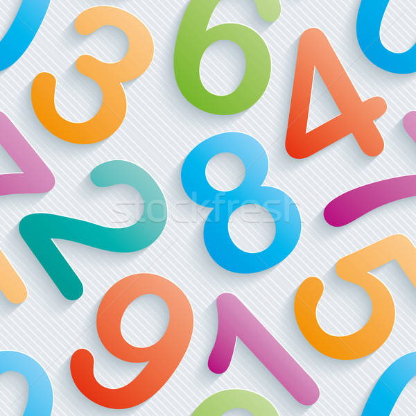 Colorful numbers wallpaper. Stock photo © almagami