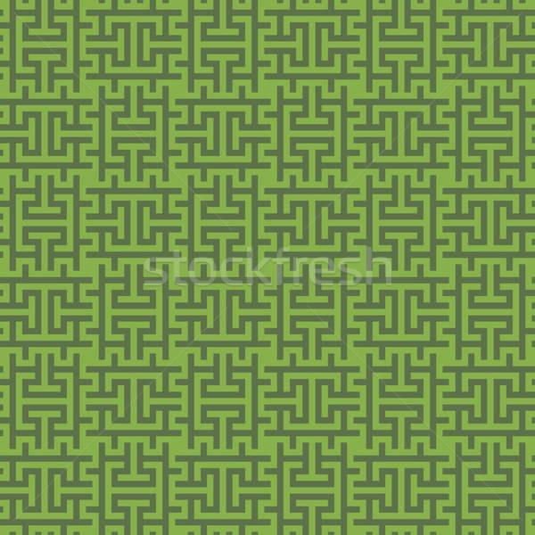 Greenery Squares Modern Seamless Pattern. Stock photo © almagami