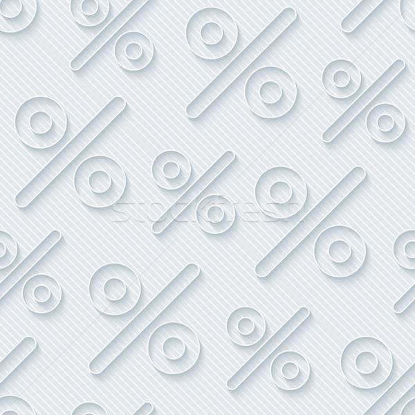 Lumière gris pour cent symboles wallpaper 3D Photo stock © almagami
