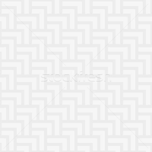 Neutral geometric seamless white pattern Stock photo © almagami