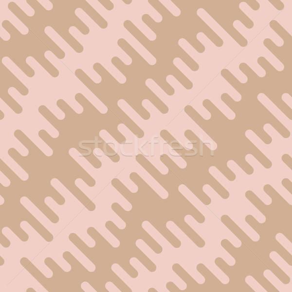 Diagonal Wavy Irregular Rounded Lines Seamless Pattern Stock photo © almagami