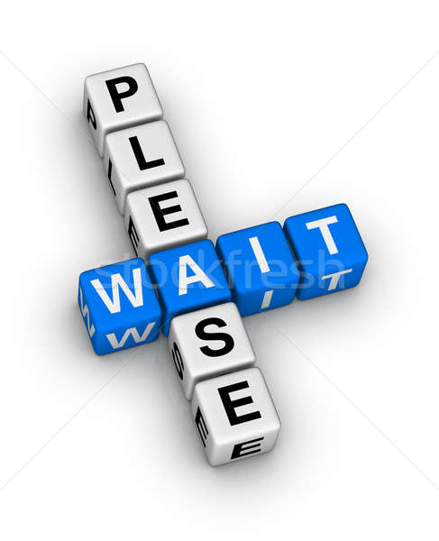 Please Wait Stock photo © almagami
