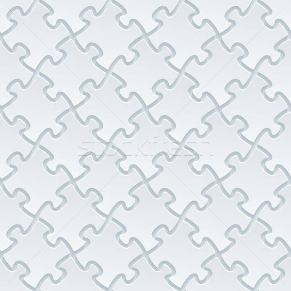 Fehér papír papír kivágás hatás absztrakt 3D Stock fotó © almagami