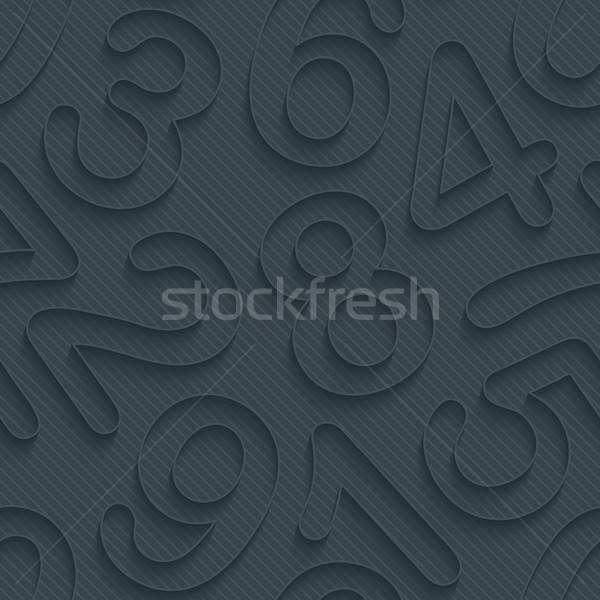 Dunkel Papier Gliederung Wirkung 3D Stock foto © almagami