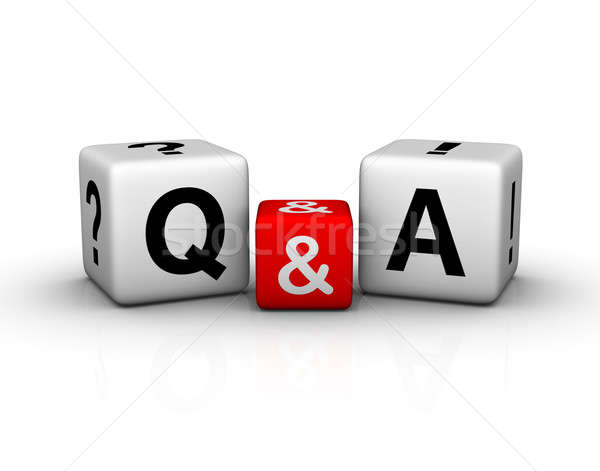 Question and Answers cubes symbol Stock photo © almagami