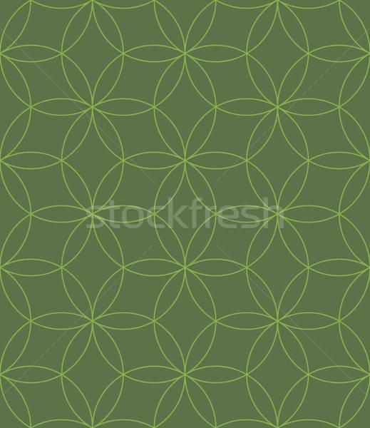 Neutraal meetkundig naadloos lineair patroon schets Stockfoto © almagami