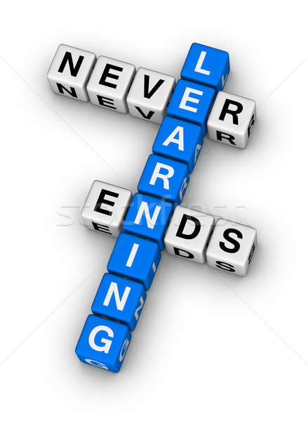 学習 決して クロスワード パズル にログイン ボックス ストックフォト © almagami