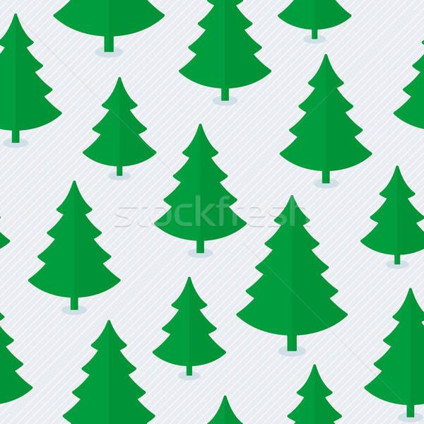 Arbre de noël papier texture arbre bois Photo stock © almagami