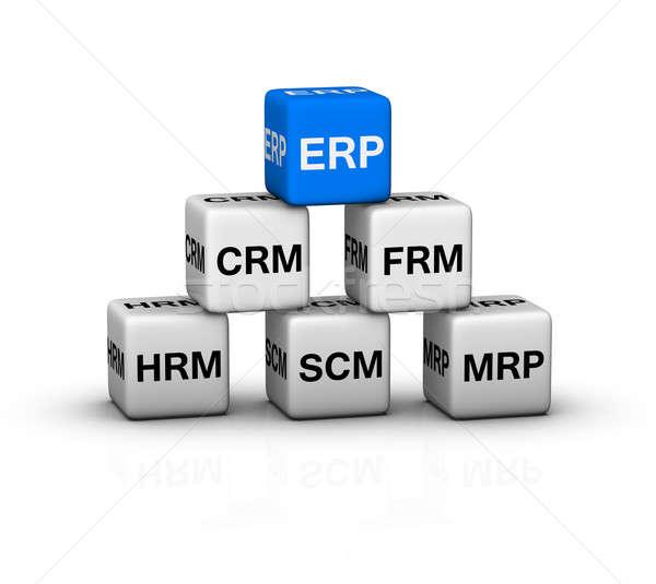 ERP System illustration Stock photo © almagami