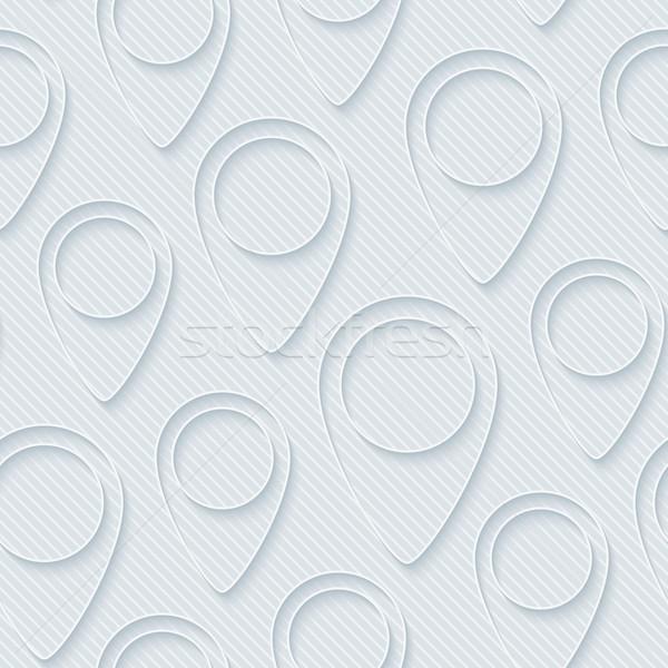 Carte 3D vecteur eps10 texture Photo stock © almagami