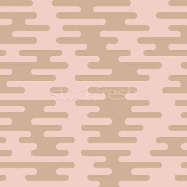 Ripple Irregular Rounded Lines Seamless Pattern Stock photo © almagami
