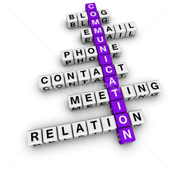 Photo stock: Communication · mots · croisés · cubes · affaires · téléphone · internet