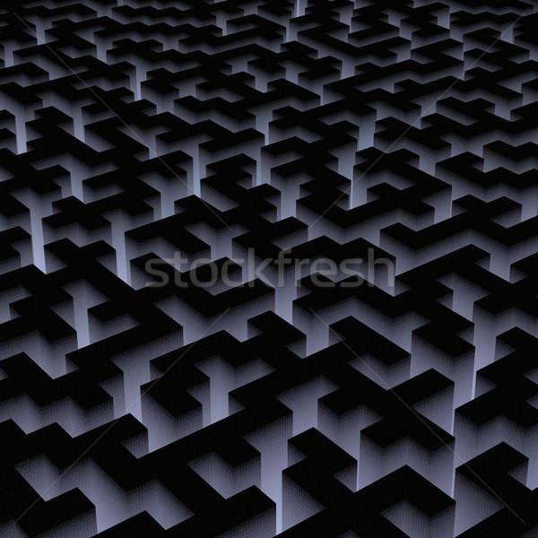 binary labyrinth Stock photo © almagami