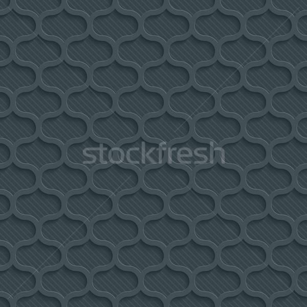 Sötét papír papír kivágás hatás absztrakt 3D Stock fotó © almagami