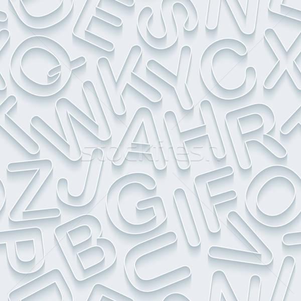 Blanche alphabet papier effet Photo stock © almagami