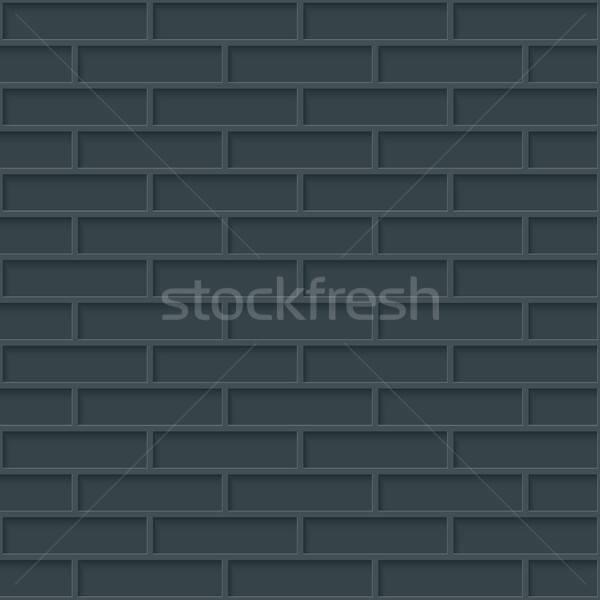 Cegieł ściany bezszwowy ciemne neutralny wzór Zdjęcia stock © almagami