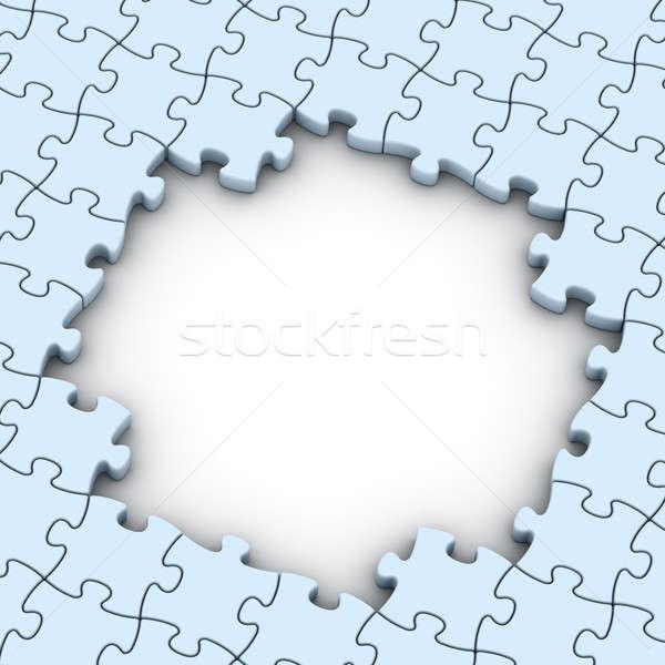 Photo stock: Bleu · blanche · espace · de · copie · affaires · construction