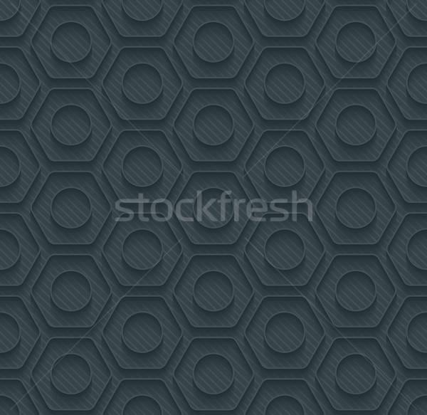 Dark perforated paper. Stock photo © almagami