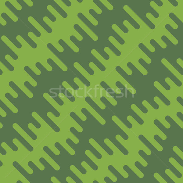 Diagonal Wavy Irregular Rounded Lines Seamless Pattern Stock photo © almagami