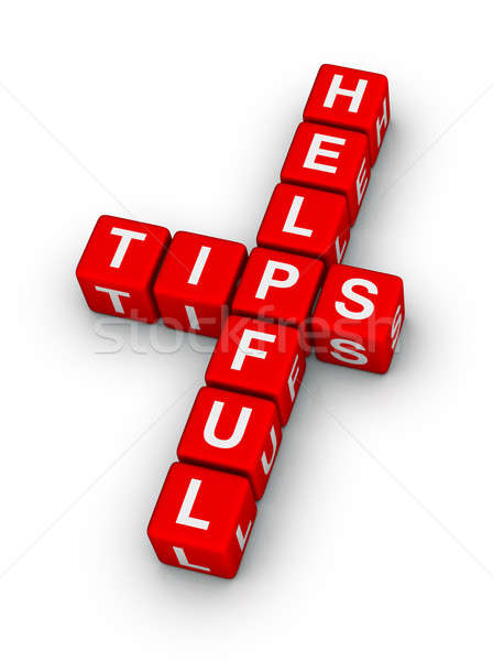 helpful tips Stock photo © almagami