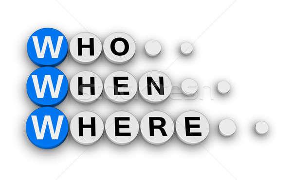 www - who, when,where Stock photo © almagami
