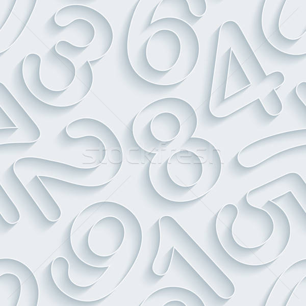 White paper numbers seamless background. Stock photo © almagami