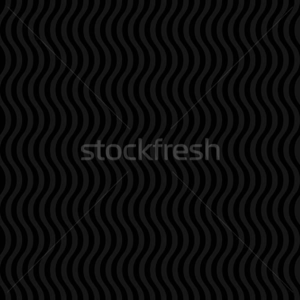 Ondulado padrão preto neutro moderno Foto stock © almagami
