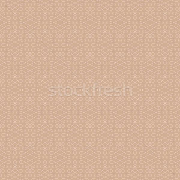 Neutral Seamless Linear Flourish Pattern. Stock photo © almagami