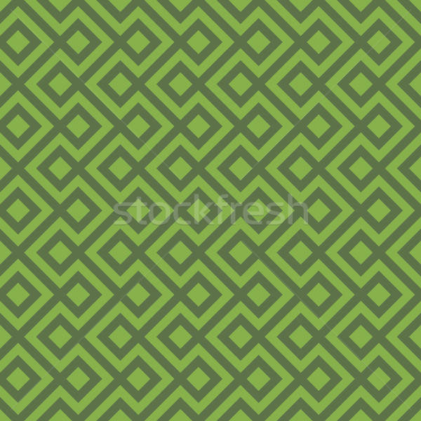 Greenery Linear Weaved Seamless Pattern. Stock photo © almagami